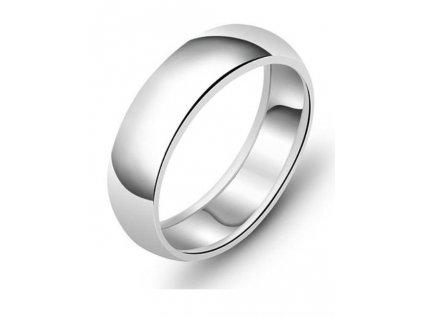 Snubní stříbrný prsten CLASSIC od OLIVIE hladký, vysoce leštěný