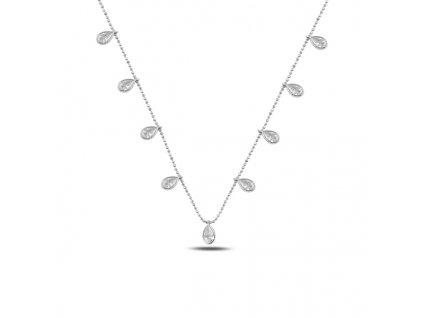 Stříbrný náhrdelník KAPKY od OLIVIE