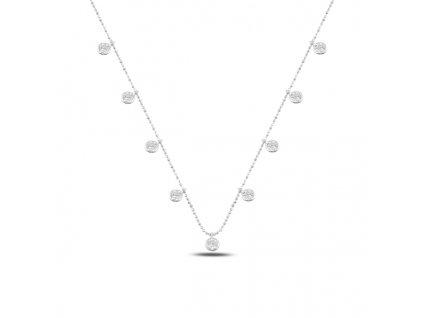Stříbrný náhrdelník s kulatými zirkony od OLIVIE