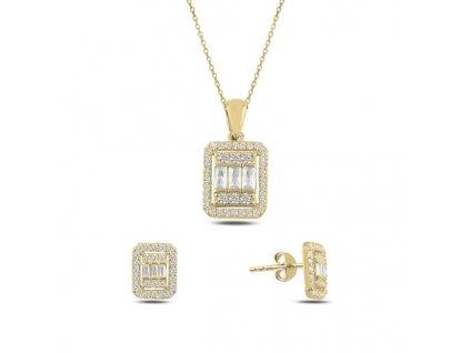 Sada stříbrných šperků GOLD pozlacená od OLIVIE