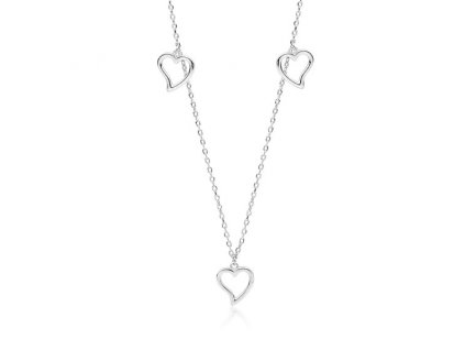 Stříbrný srdíčkový náhrdelník od OLIVIE