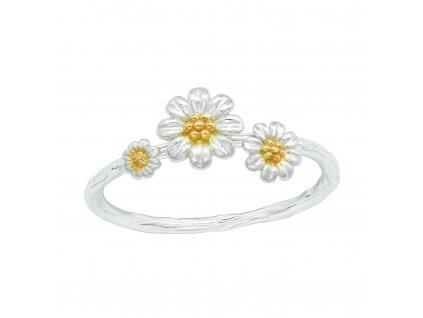 Stříbrný květinový prsten od OLIVIE