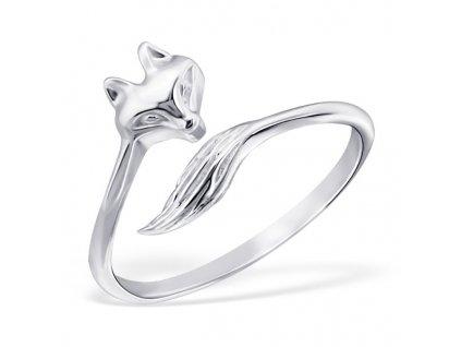 Stříbrný prsten liška OLIVIE.CZ