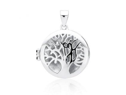 Stříbrný otevírací medailonek STROM ŽIVOTA od OLIVIE