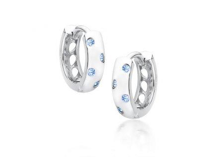Stříbrné kroužky s modrými zirkony od OLIVIE