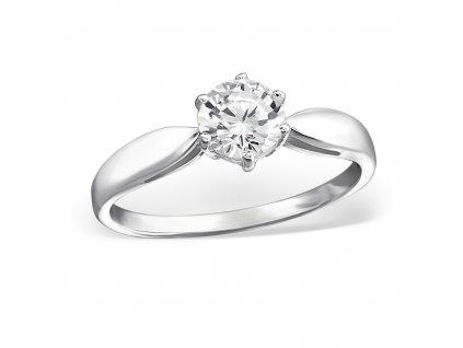 stříbrný zásnubní prsten