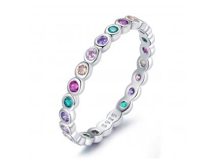 Stříbrný prstýnek COLORS od OLIVIE