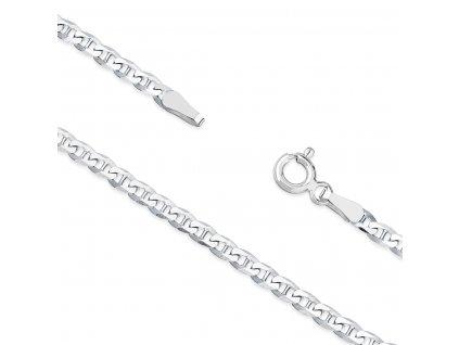 Stříbrný 45cm pánský i dámský plochý řetízek od OLIVIE