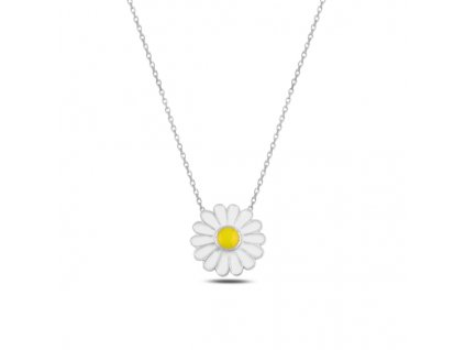 Stříbrný náhrdelník SEDMIKRÁSKA od OLIVIE. Kopretina.