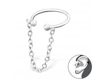 stříbrná záušnice od OLIVIE na 1 ucho náušnice