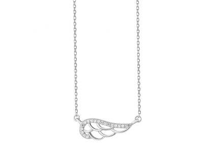 Stříbrný řetízek andělské křídlo OLIVIE.CZ, vánoční dárek