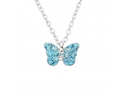 Dětský stříbrný řetízek motýlek