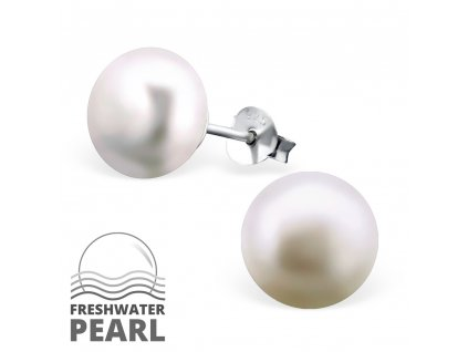 Stříbrné náušnice perly OLIVIE.CZ