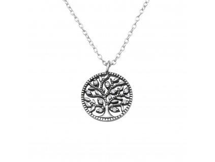 Stříbrný řetízek strom života OLIVIE.CZ