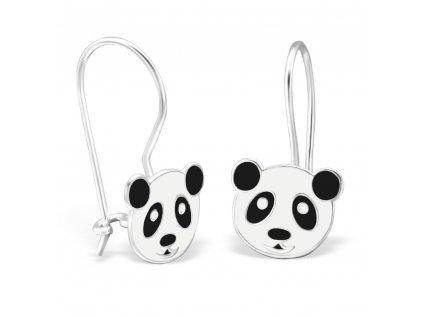 Dětské stříbrné náušnice panda