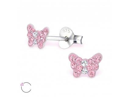 Dětské stříbrné náušnice motýlci