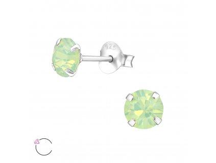 stříbrné náušnice Swarovski krystaly