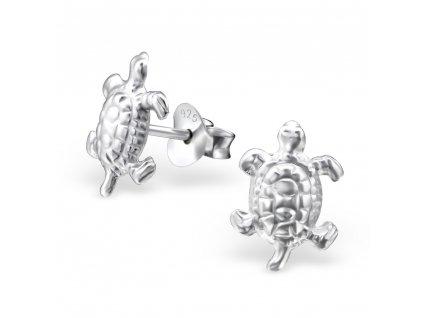 Dětské stříbrné náušnice želva