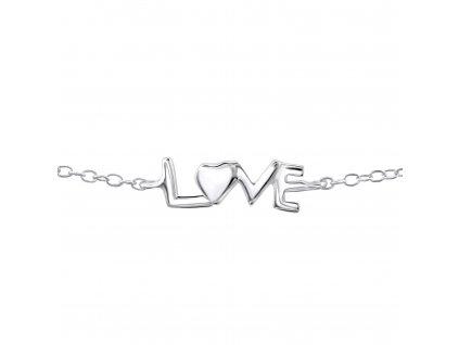 stříbrný náramek LOVE
