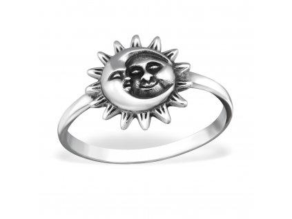Stříbrný prsten SUN AND MOON OLIVIE.CZ