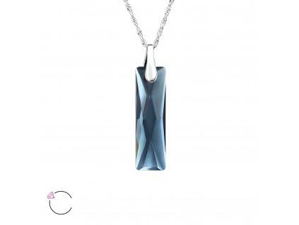 Stříbrný náhrdelník Swarovski OLIVIE.CZ