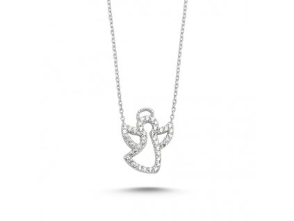 stříbrný řetízek anděl