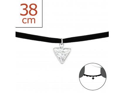 Stříbrný náhrdelník choker OLIVIE.CZ