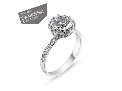 stříbrný zásnubní prsten Swarovski