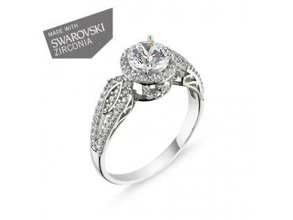 stříbrný prsten Swarovski OLIVIE