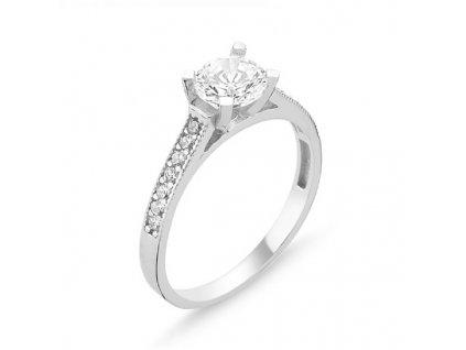 stříbrný prsten se zirkonem OLIVIE
