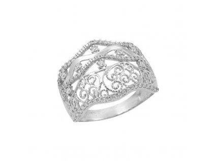 Široký stříbrný prsten