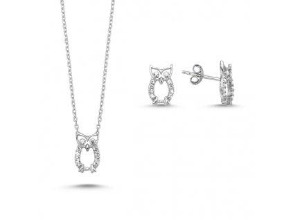 Sada stříbrných šperků SOVIČKY