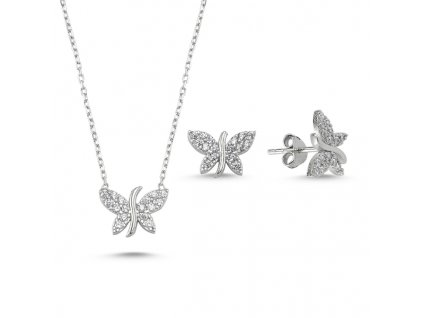 1395 Sada stříbrných šperků MOTÝL  Ag 925; 2,9 g.