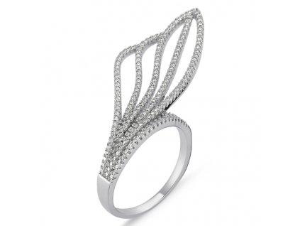 EXTRAVAGANTNÍ stříbrný prsten