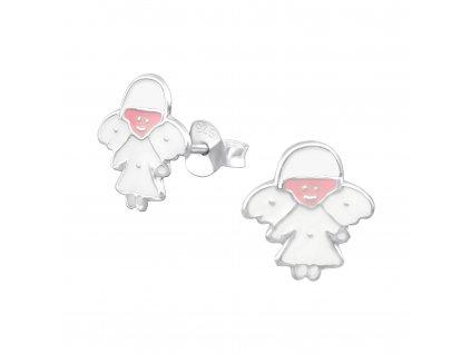Dětské stříbrné náušnice ANDÍLEK