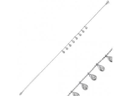 OLIVIE Stříbrný řetízek na nohu 1525