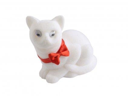 Dárková sametová krabička bílá kočka