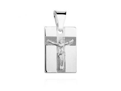 Stříbrný přívěsek JEŽÍŠ NA KŘÍŽI