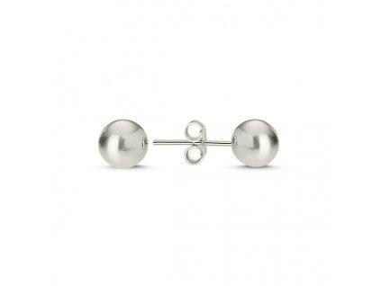 Stříbrné náušnice kuličky 6 mm