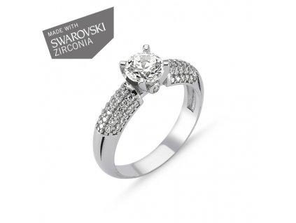 Stříbrný luxusní prsten se Swarovski zirkony