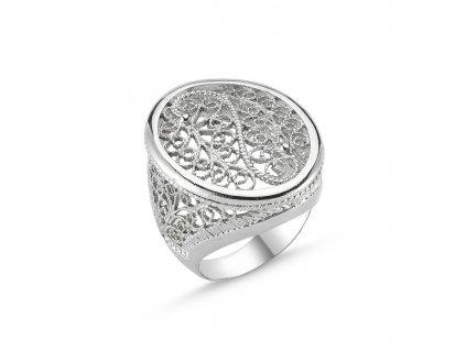 Stříbrný vzorovaný prsten OLIVIE.CZ