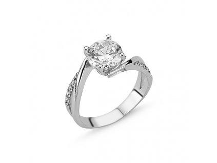 Stříbrný zásnubní prsten CZ