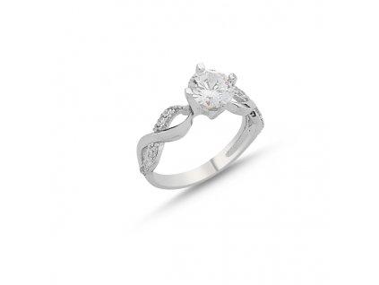Stříbrný prsten NEKONEČNO CZ