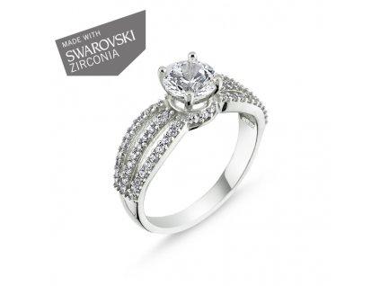 Stříbrný prsten se Swarovski zirkony