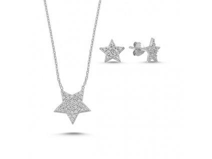 Sada stříbrných šperků HVĚZDIČKY