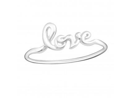 Stříbrný prsten LOVE