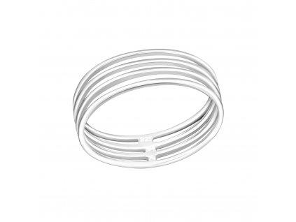 Stříbrný stohovatelný prsten