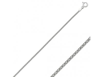 Stříbrný řetízek POPCORN 50 cm