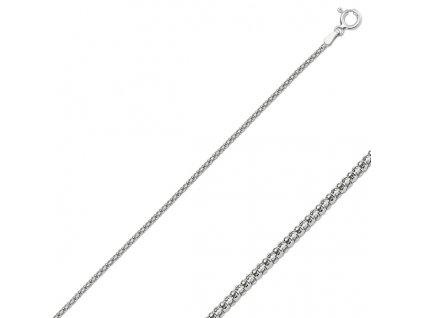Stříbrný řetízek POPCORN 45 cm