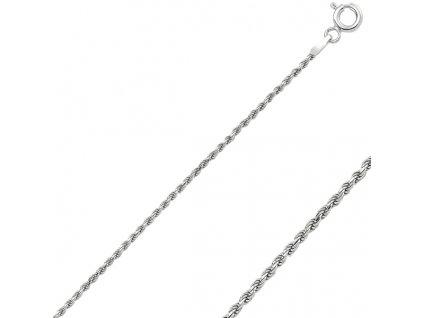 Stříbrný zatočený náhrdelník 50 cm
